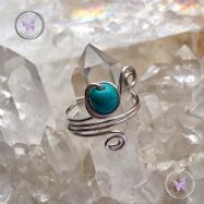 Turquoise Sterling Silver Wire Wrapped Ring